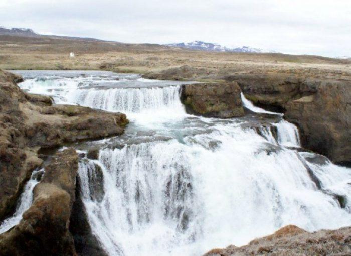 Reykjafoss Waterfall